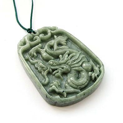 Amazon chinese jadeite jade dragon amulet pendant natural chinese jadeite jade dragon amulet pendant aloadofball Choice Image