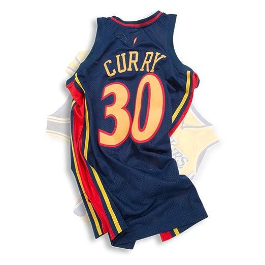 LSYR Jersey de Baloncesto Retro Golden State Warriors Curry 30Th ...