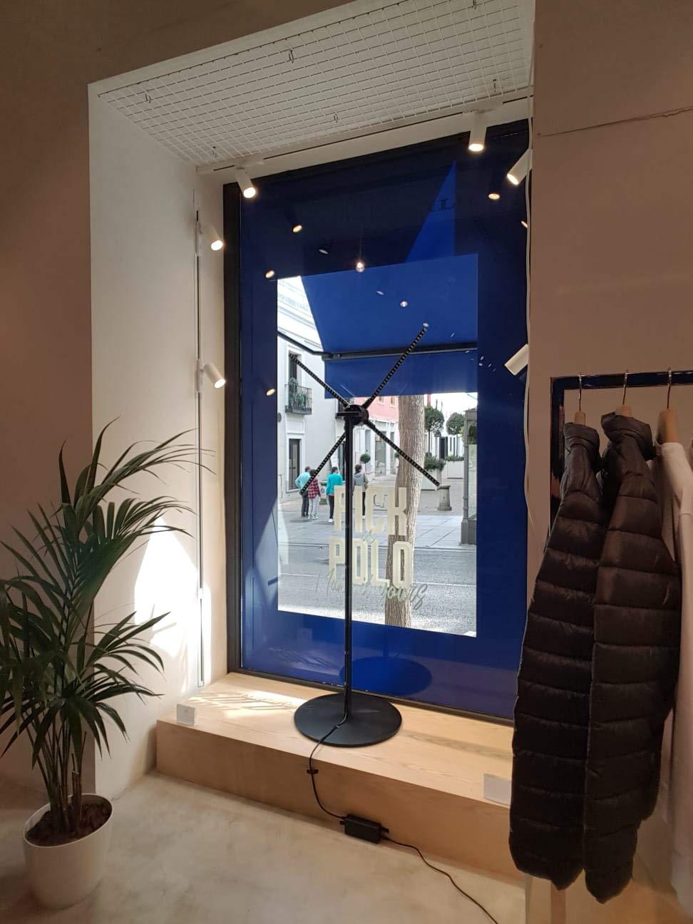 para profesionales de marketing eventos y ferias de Madrid Holograma 3d ventilador 57cm proyector holografico LED fan display Wifi Espa/ña