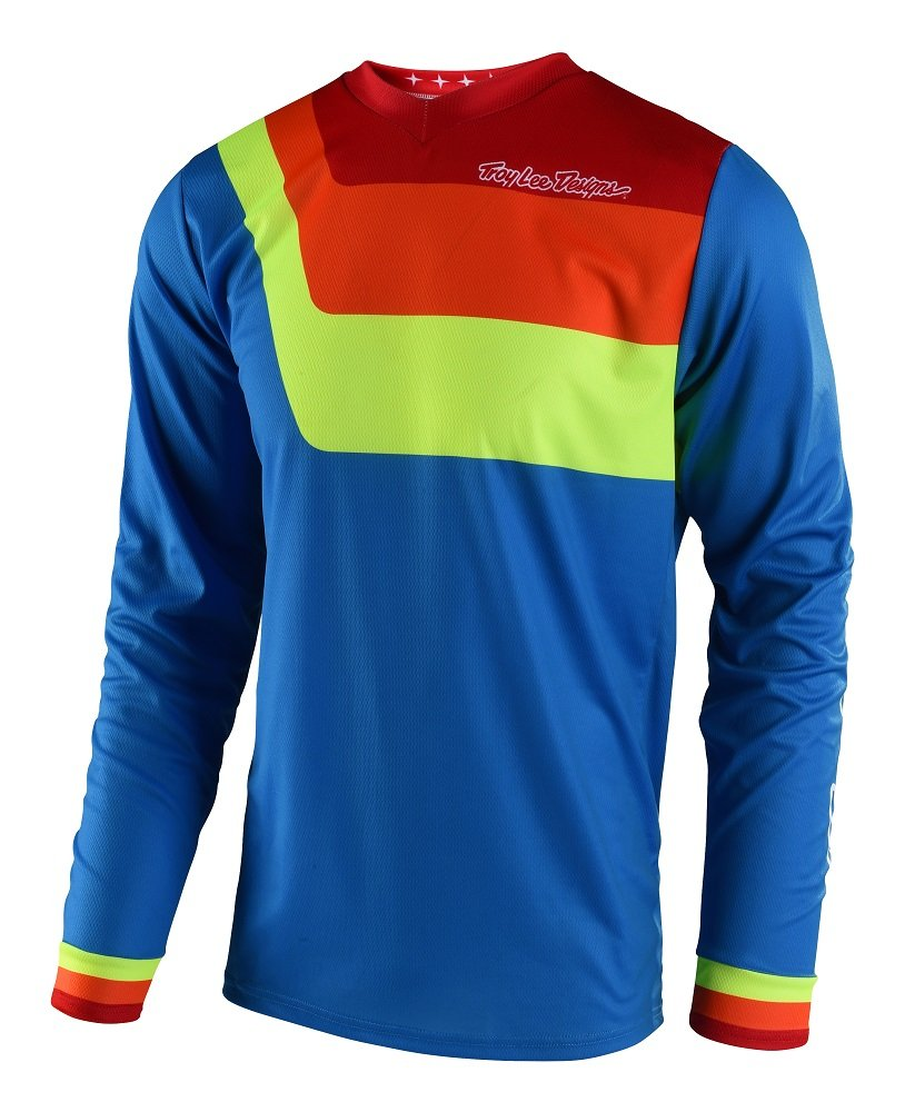 Troy Lee Designs 2018 Youth GP Prisma Jersey-Blue-YL