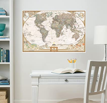 Wall pops wpe0668 wpe0668 nat geo world map executive wall decals wall pops wpe0668 wpe0668 nat geo world map executive wall decals gumiabroncs Choice Image