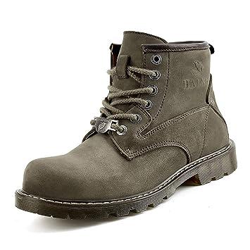 YAN Chaussures pour Hommes Cuir Automne Et Hiver Martin Bottes Imperméables  À l eau Non f646330adf0c