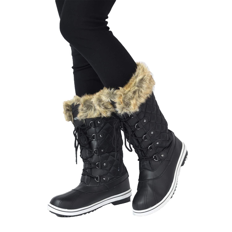 1b4b4d21986 Mua sản phẩm Shenda Women s Lace-up Fur Trimmed Boot Mid-Calf Snow ...