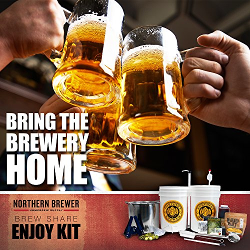 Brew. Share. Enjoy. Homebrew 5 Gallon Beer Brewing Starter Kit with Chinook IPA Beer Recipe Kit and Brew Kettle by Northern Brewer (Image #7)