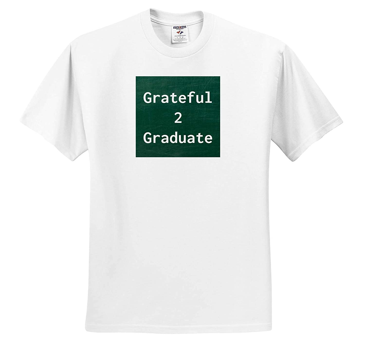 Image of Grateful to Graduate 3dRose Carrie Merchant Image ts/_309564 Adult T-Shirt XL