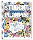"BookFactory 2018-2019 Doodle Student Planner/Agenda/Organizer/Calendar (132 Pages) - 8.5"" X 11"" Wire-O (CAL-132-7CW-A(DOODLE-PLANNER18-19))"