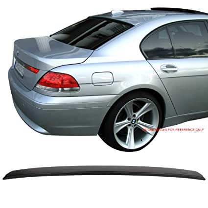 Roof Spoiler Fits 2002-2008 BMW E65 E66 7-Series | Sedan Unpainted ABS Rear  - Other Color Available Rear Trunk Tail Spoiler Wing by IKON MOTORSPORTS |
