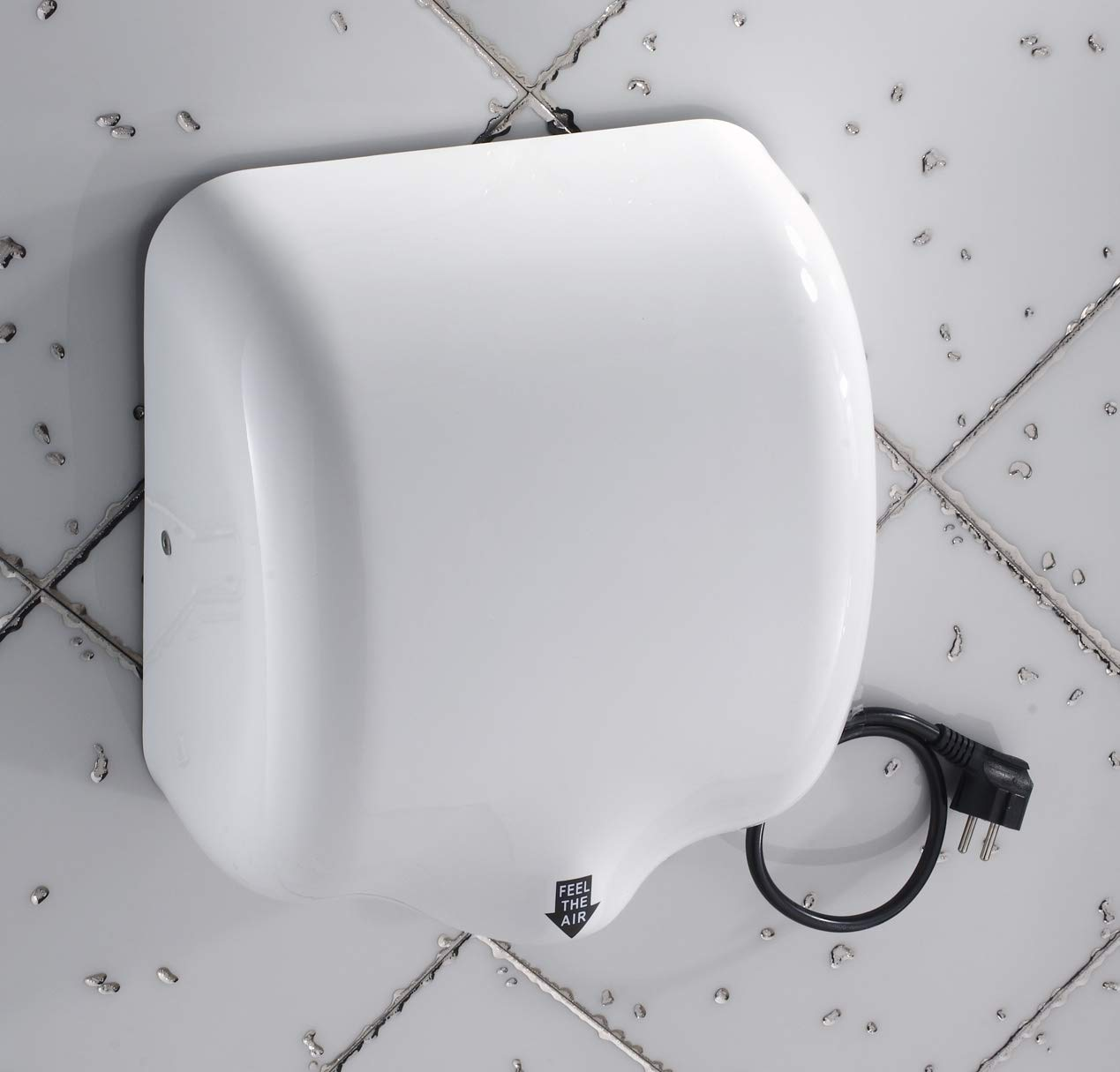 Mophorn 1800W Automatic Hand Dryer 110V Stainless Steel Commercial Hand Dryer Electric Hand Dryer for Hotel Home Bathrooms Air Hand Dryers White (White) by Mophorn (Image #3)