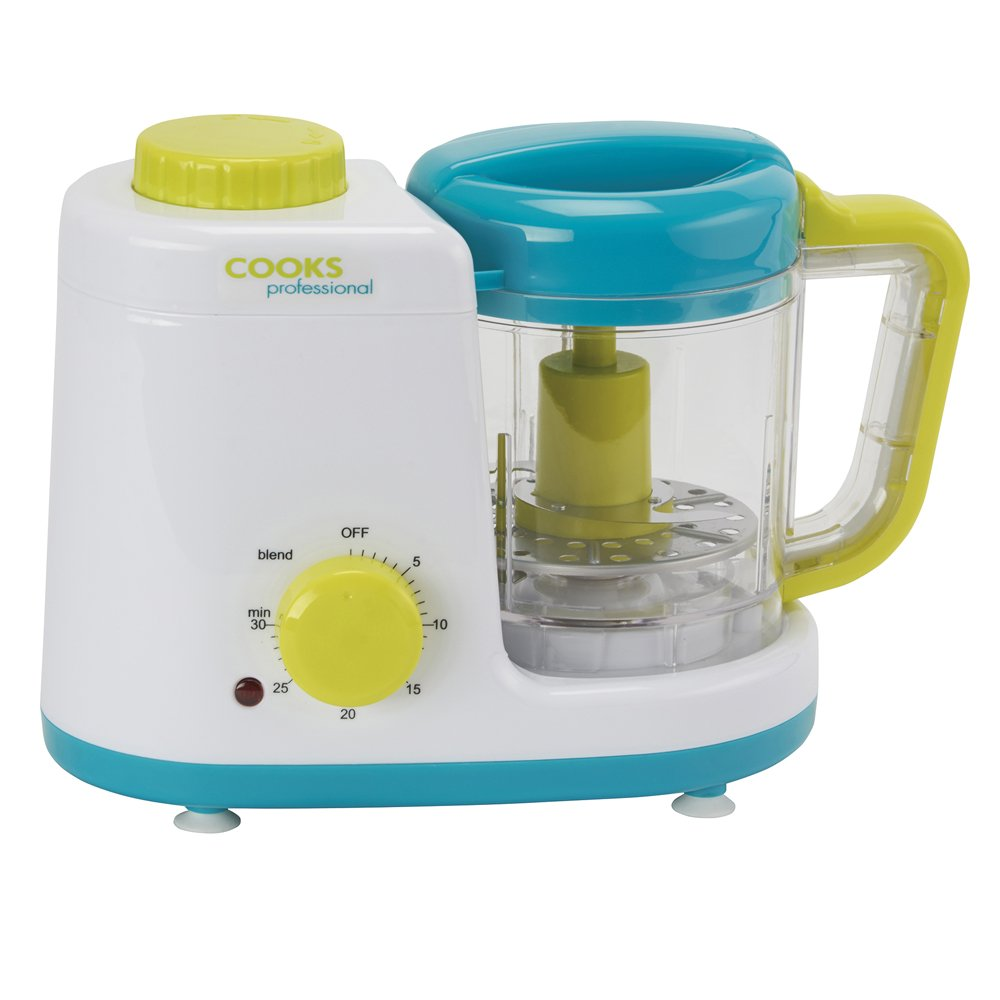 Baby Food Blender Processor Combined 2 in 1 Electric Steamer with 500ml Blending Bowl Steamer 250W, Processor 150W by Cooks Professional Clifford James