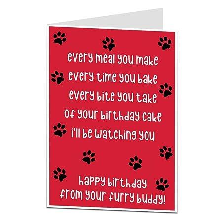Tarjeta divertida del feliz cumpleaños del perro De temático ...