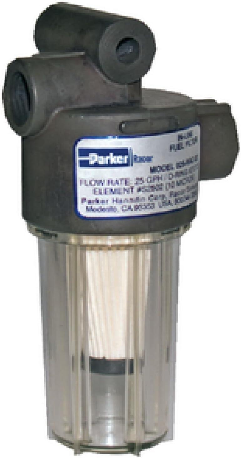 Amazon.com: Racor 10 Micron in-Line Gasoline Fuel Filter, 250gph: Sports &  OutdoorsAmazon.com