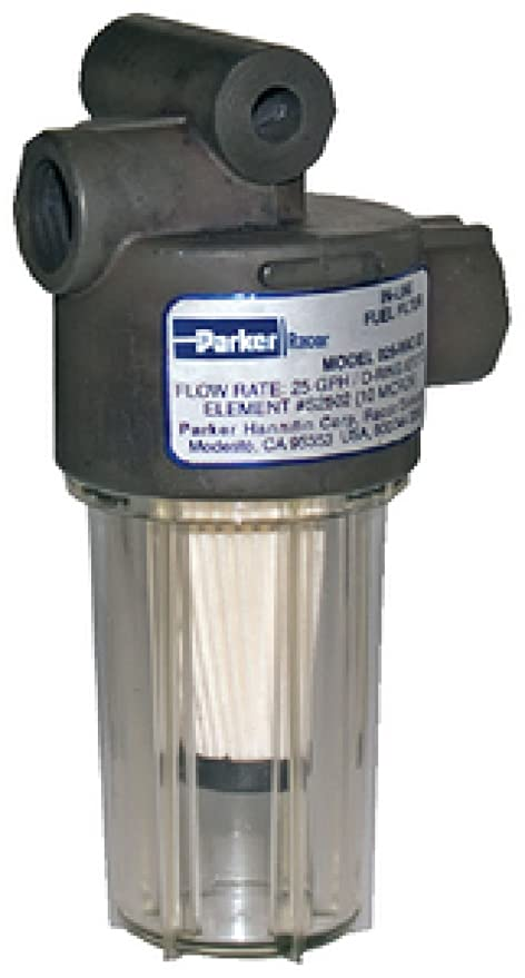 amazon com racor 10 micron in line gasoline fuel filter, 250gph Parker Racor Filter View image unavailable