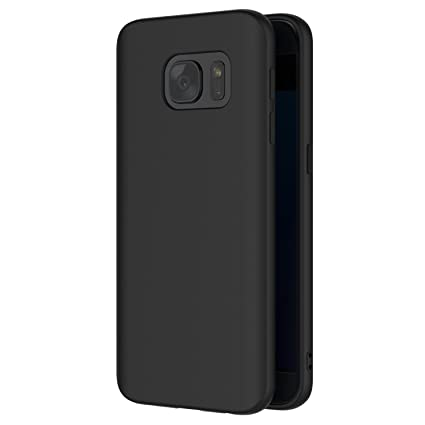 AICEK Funda Samsung Galaxy S7, Negro Silicona Fundas para Galaxy S7 Carcasa Samsung S7 Negro Silicona Funda Case