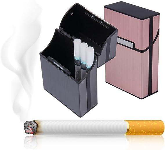 DANDANdianzi Cigarette en Aluminium l/éger /étui /à cigares de Poche Bo/îte /étui /à Cigarettes Porte-conteneur de Stockage
