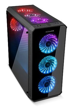 Ordenador PC QUONTY Gaming Intel I3-8100 GIGA B360M-DS3H 8GB 1TB GTX1050-2GB/CAJA Nox Hummer TGX: Amazon.es: Informática