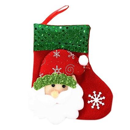 westeng 2pcs calcetines de Navidad (non-tissés purpurina Mignon medias de Navidad calcetines diseño