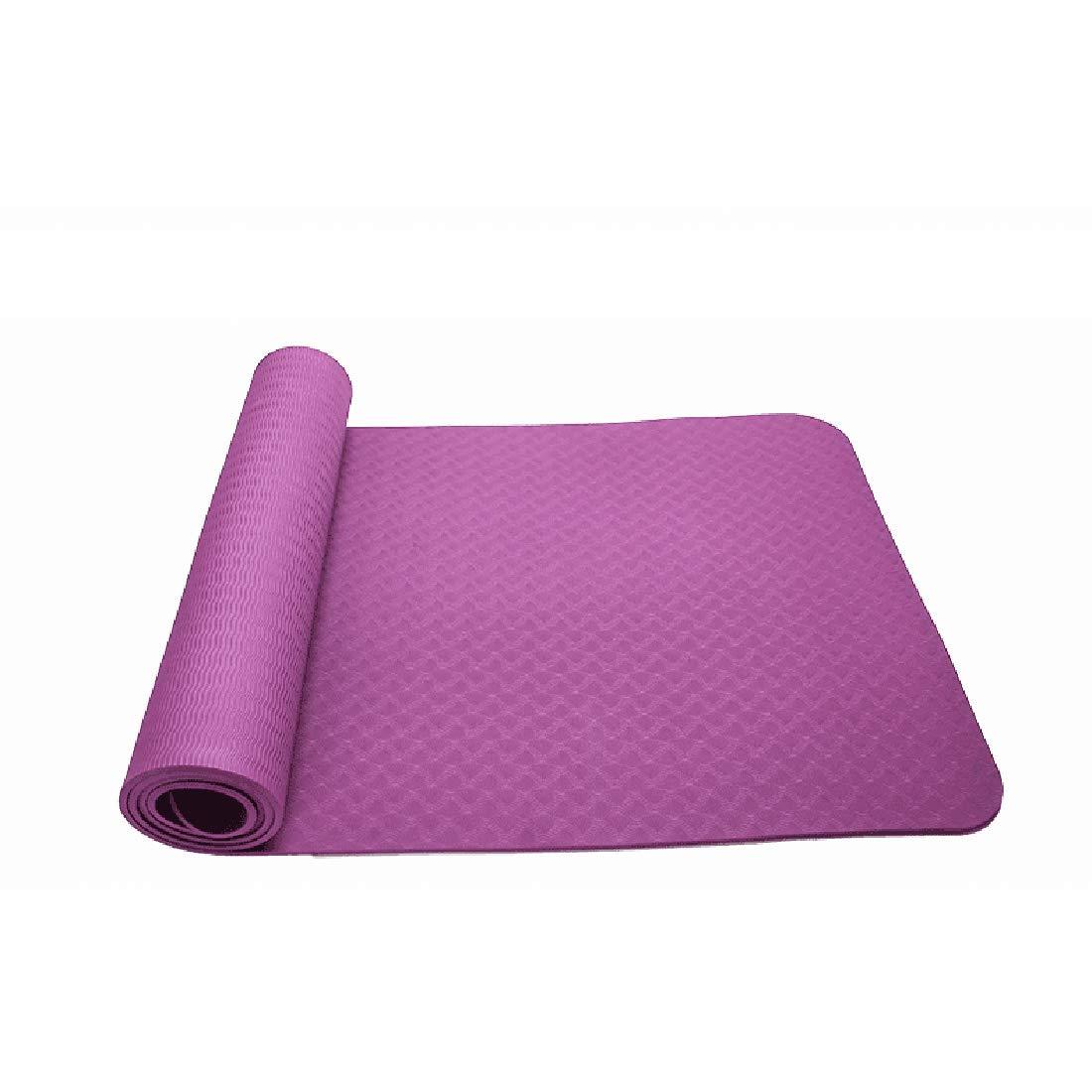 Xasclnis Yogamatte Umweltfreundliche TPE8mm Sportmatte Geeignet für die Turnhallenfamilie (Farbe : lila, Größe : 183cm)