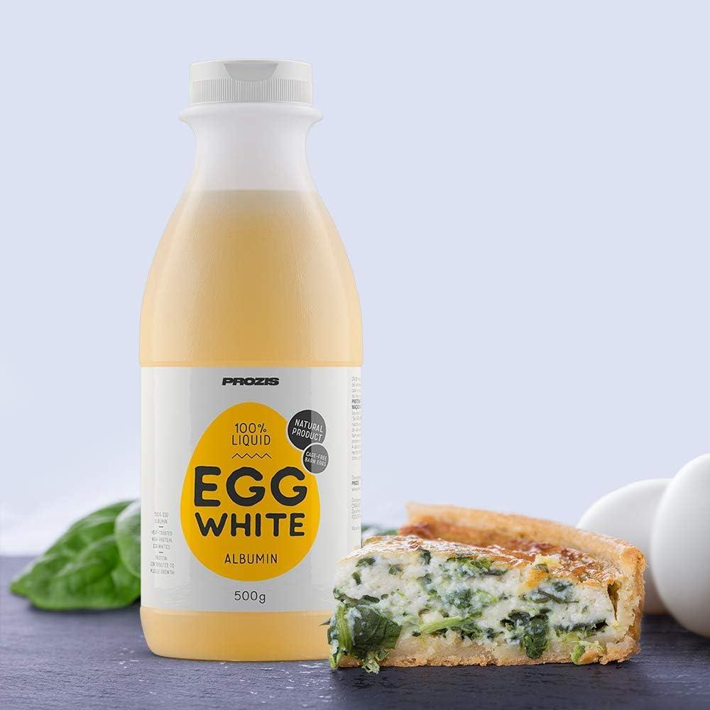 Prozis 100% Clara de huevo líquida - Albúmina 500 g Natural ...
