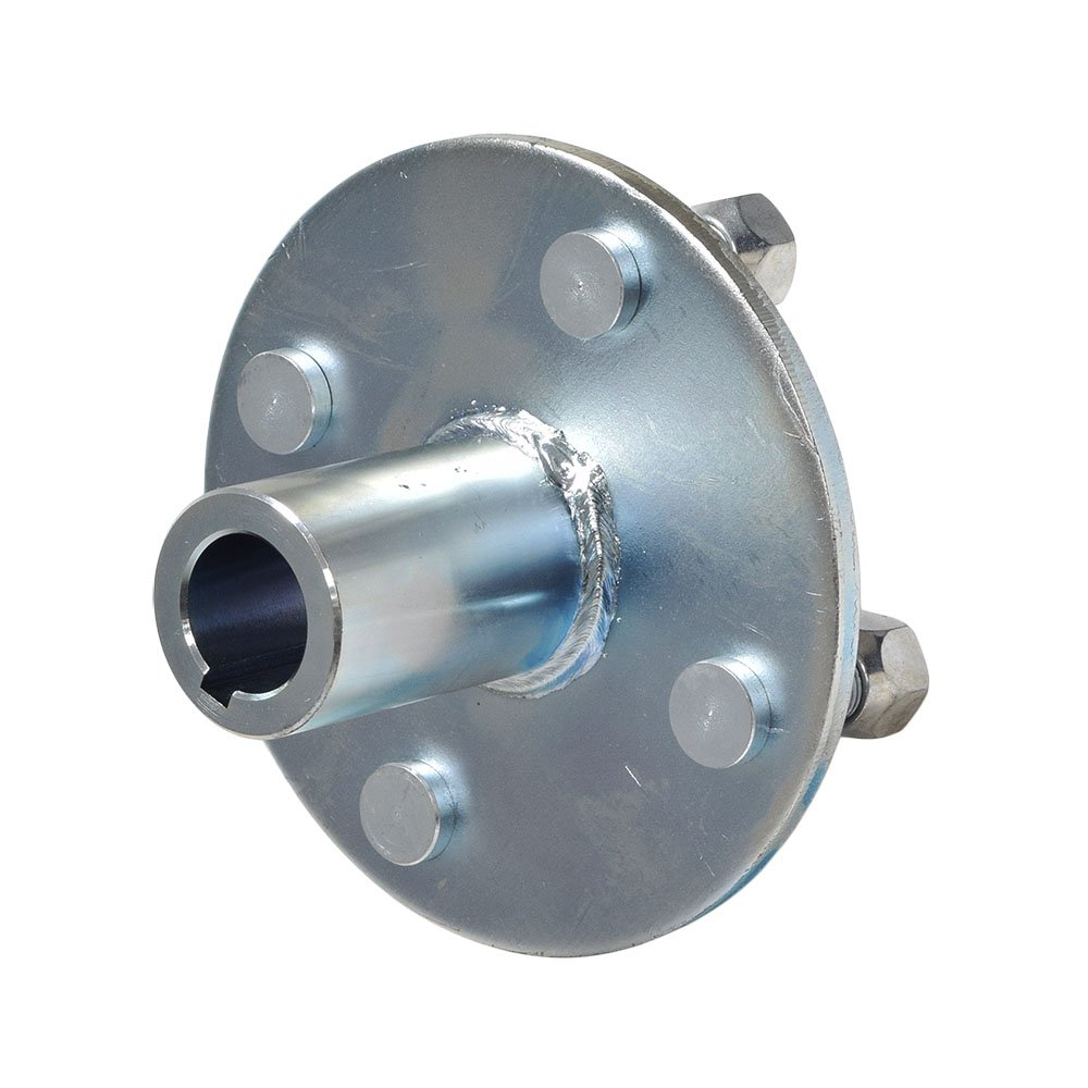AlveyTech 4'' x 4'' Go-Kart Live Axle Hub with 1'' to 3/4'' Step-Down by Monster Motion (Image #1)