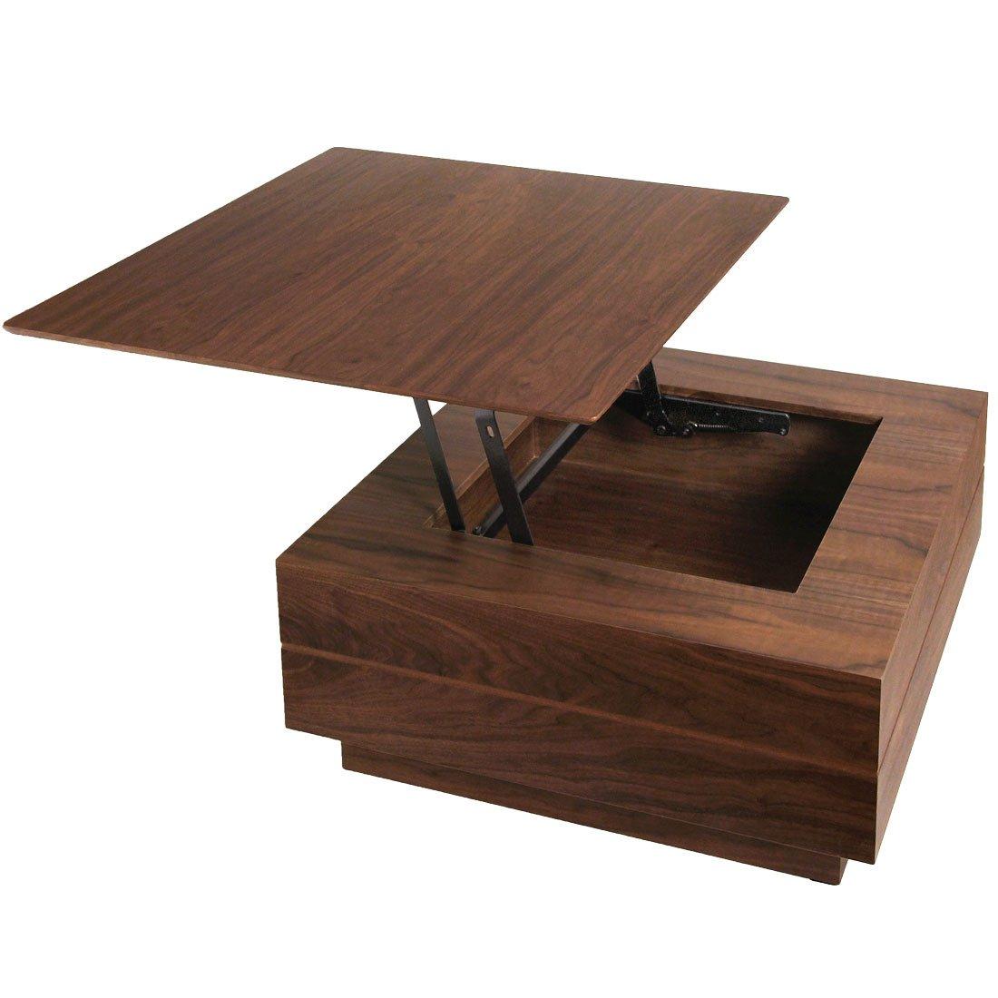 タンスのゲン センターテーブル 正方形 幅80 ウォールナット 完成品 ブラウン 30800007 WN B01D5MK90A ブラウン ブラウン