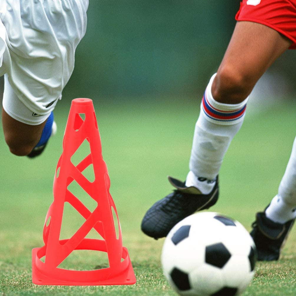 BESPORTBLE 6 c/ônes de Sport Pliables de Formation de c/ônes pour Le Footwork de Football de Football de Basket-Ball