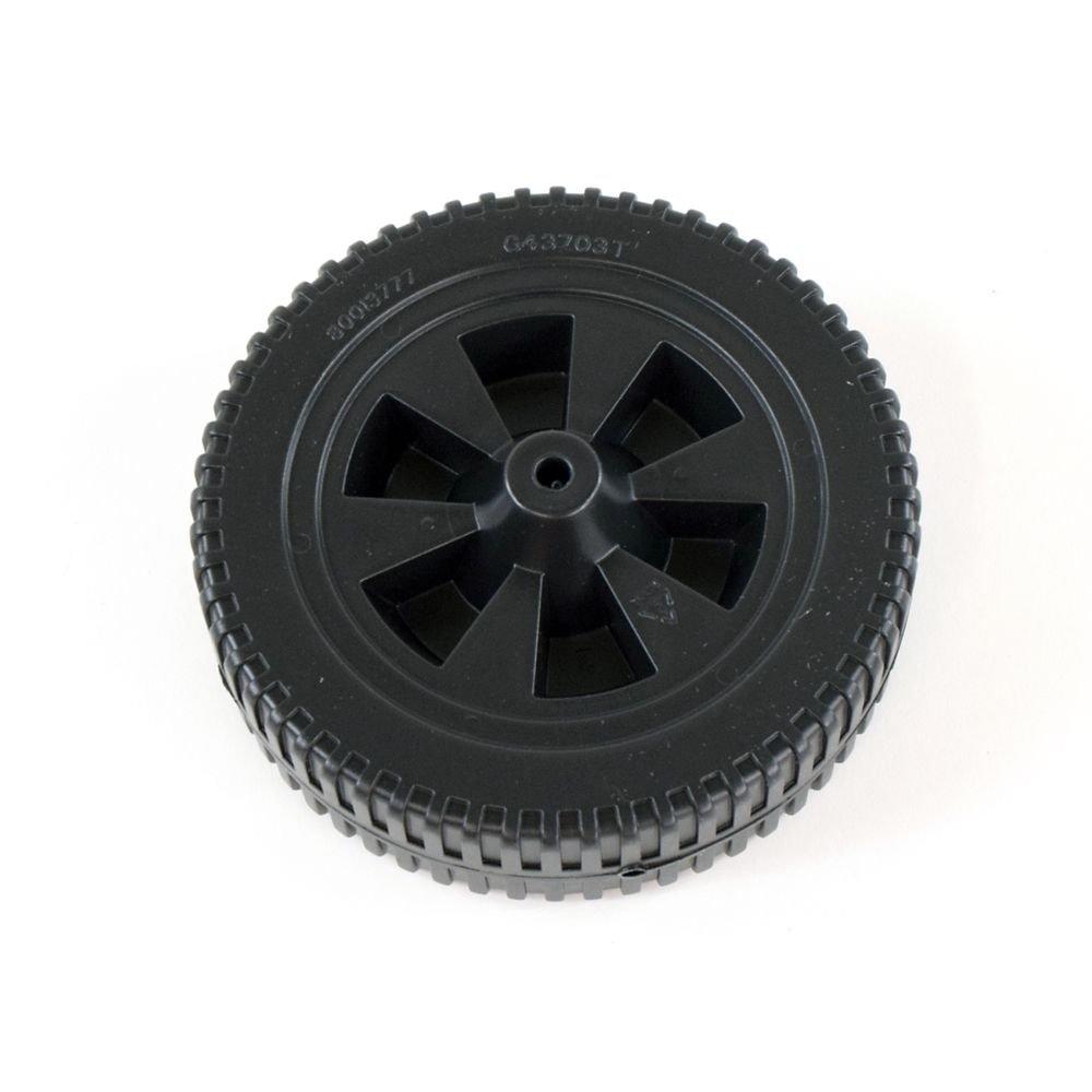 Wheel 7 Inch Plastic Black Blow Molded (G437-0037-W1)