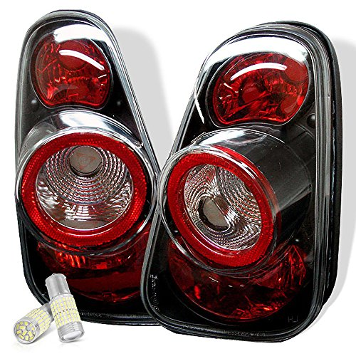 - VIPMOTOZ Chrome Bezel Euro Style Altezza Tail Light Housing Lamp Assembly Replacement For 2002-2008 Mini Cooper R50 R52 R53 - Full SMD LED Backup Bulbs, Driver and Passenger Side