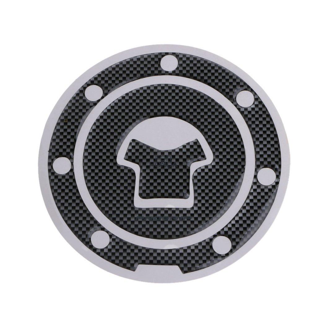 Xuniu Etiqueta engomada del Protector de Tankpad del coj/ín del Tanque de la Fibra de Carbono de la Motocicleta Honda CBR600 F2