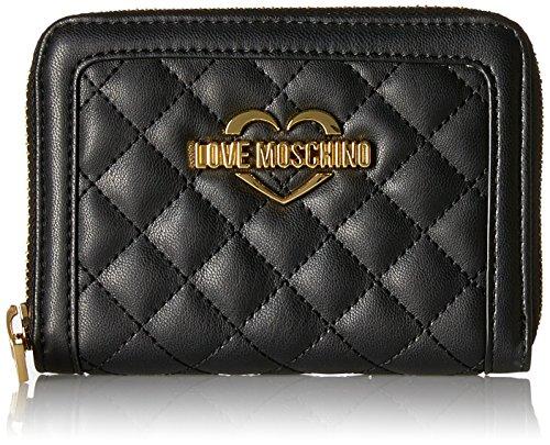 Love Moschino Damen Portafogli Nappa Pu Trap.Nero Clutch, Schwarz (Black), 10x13x2 cm