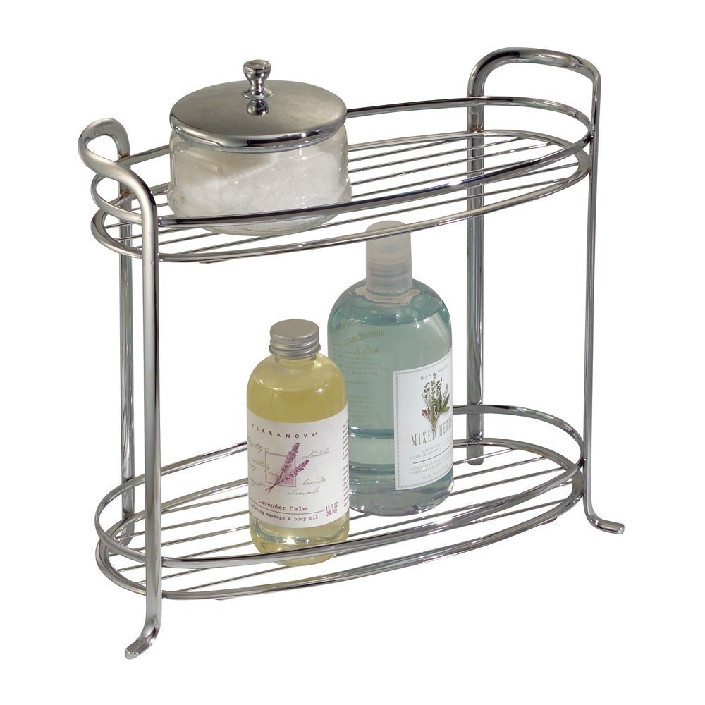 Attirant Amazon.com: InterDesign Axis Free Standing Bathroom Vanity Storage Shelf  For Towels, Soap, Accessories   2 Tiers, Chrome: Home U0026 Kitchen