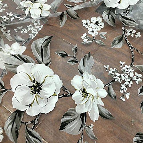 Organza Vintage Botanical Floral Fabric