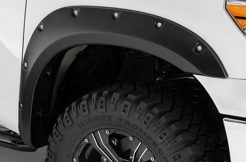 R/&L Racing Black Fender Flares Cover Boss Pocket Rivet Style 2005-2016 for Nissan Frontier 6 Long Bed