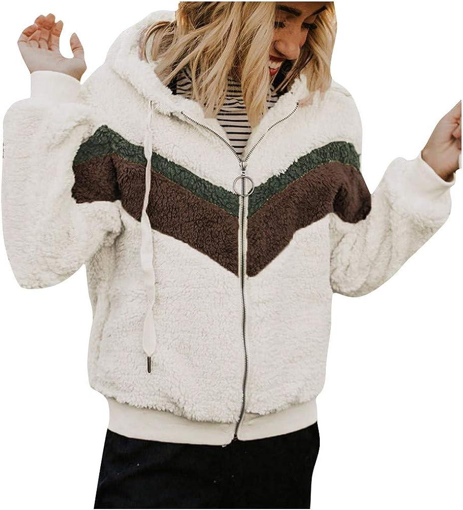 Faux Fur Jacket for Women,NEWONESUN Hooded Long Sleeve Keep Warm Outwear Hoodies by-NEWONESUN