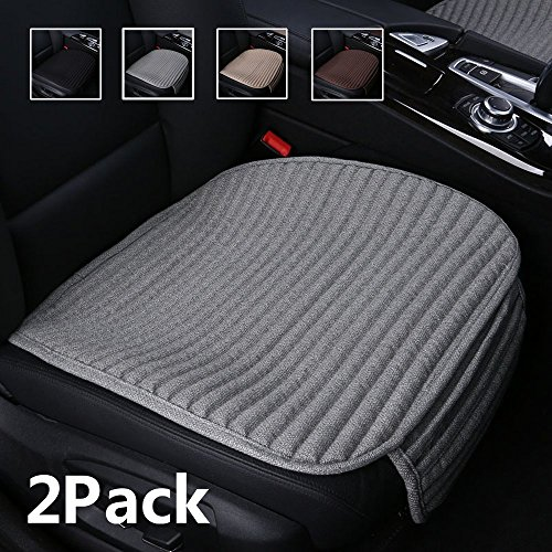 - Suninbox Car Seat Covers Front Seats Only,2 Pack Car Seat Cushion Buckwheat Hulls,Bottom Seat Cover,Universal Leather Car Seat Protector for Automobiles(2PC Gray Front Seat)