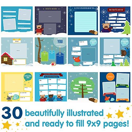 Album de Recuerdos del Primer Año del Bebé - Agenda del 1er Año por Unconditional Rosie. Libro + 12 Pegatinas Incluidas (Libro Escrito en Idioma ...