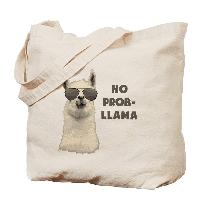 Amazon.com: CafePress - No Problem Llama - Natural Canvas Tote Bag ...