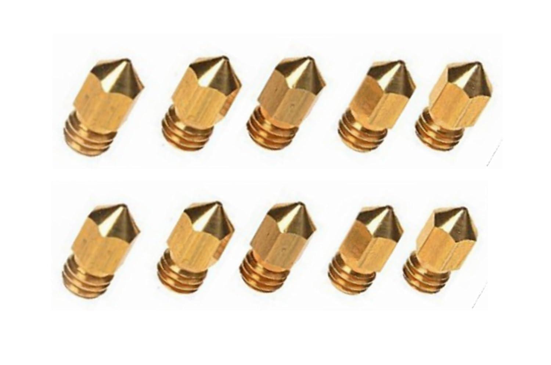 10 PCS 3D Printer 0.4mm Extruder Brass Nozzle Print Head for MK8 1.75mm ABS PLA Printer SUNREEK