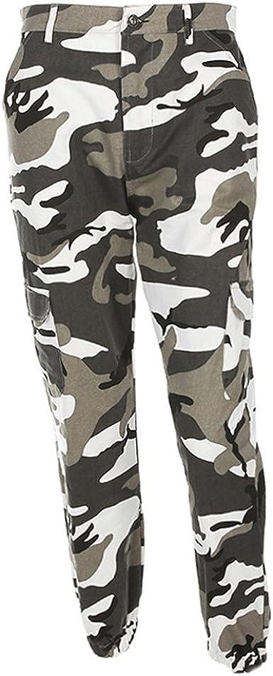 Pantalones Mujer Camo Cargo Cintura Alta Hip Hop Punk Militares Combate Camuflaje Pantalones Largos Ejercito Tumblr Streetwear Casual Baratas Yvelands Amazon Es Ropa Y Accesorios