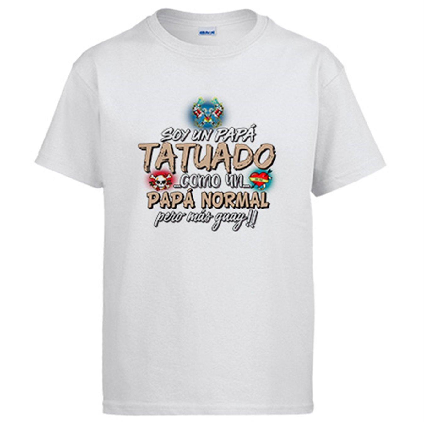 Camiseta Soy un papá Tatuado como un papá Normal Pero más Guay ...