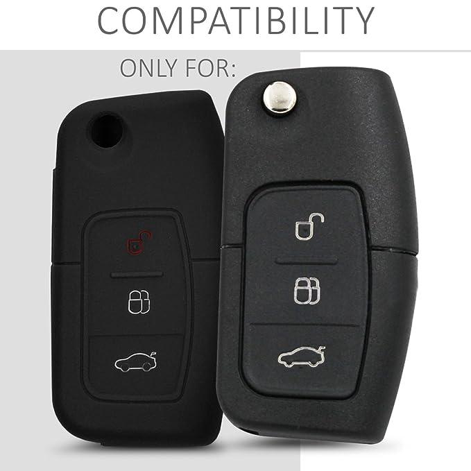 kwmobile Funda de Silicona para Llave Plegable de 3 Botones para Coche Ford: Amazon.es: Electrónica