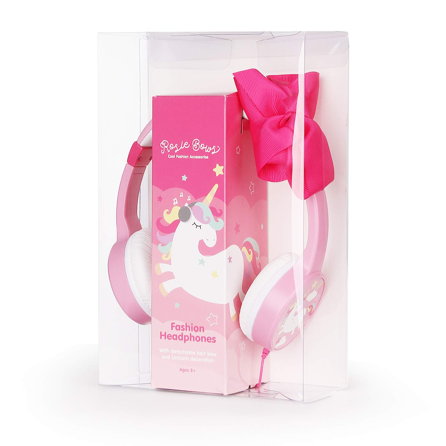 Girls Unicorn Headphones,Removable Bowknot Earphones with 85dB Volume Limited and 3.5mm Jack for iPad Cellphones Computer MP3/4 Kindle,Children Headset for School,Birthday Gifts (Bowknot) by JBUNION (Image #7)