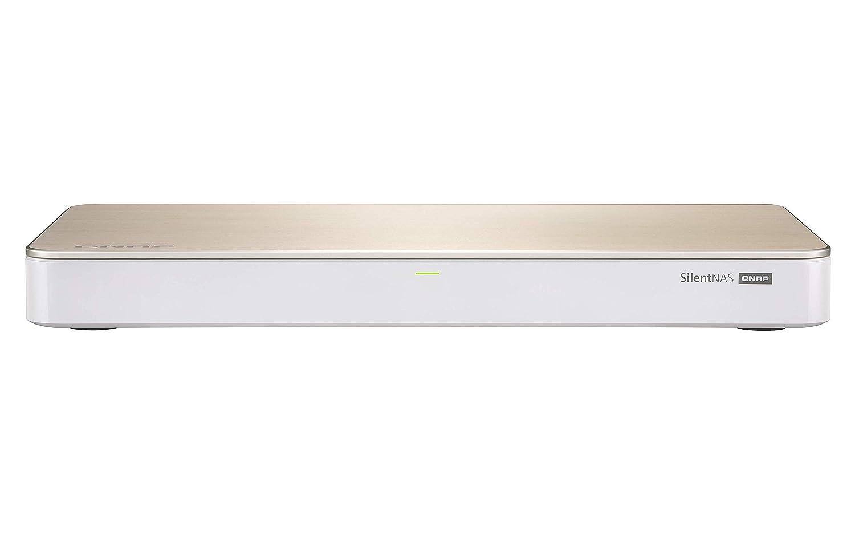 QNAP HS-453DX Ethernet Torre Oro, Blanco NAS - Unidad Raid (Unidad de Disco Duro, SSD, M.2,Serial ATA III, 2.5,3.5