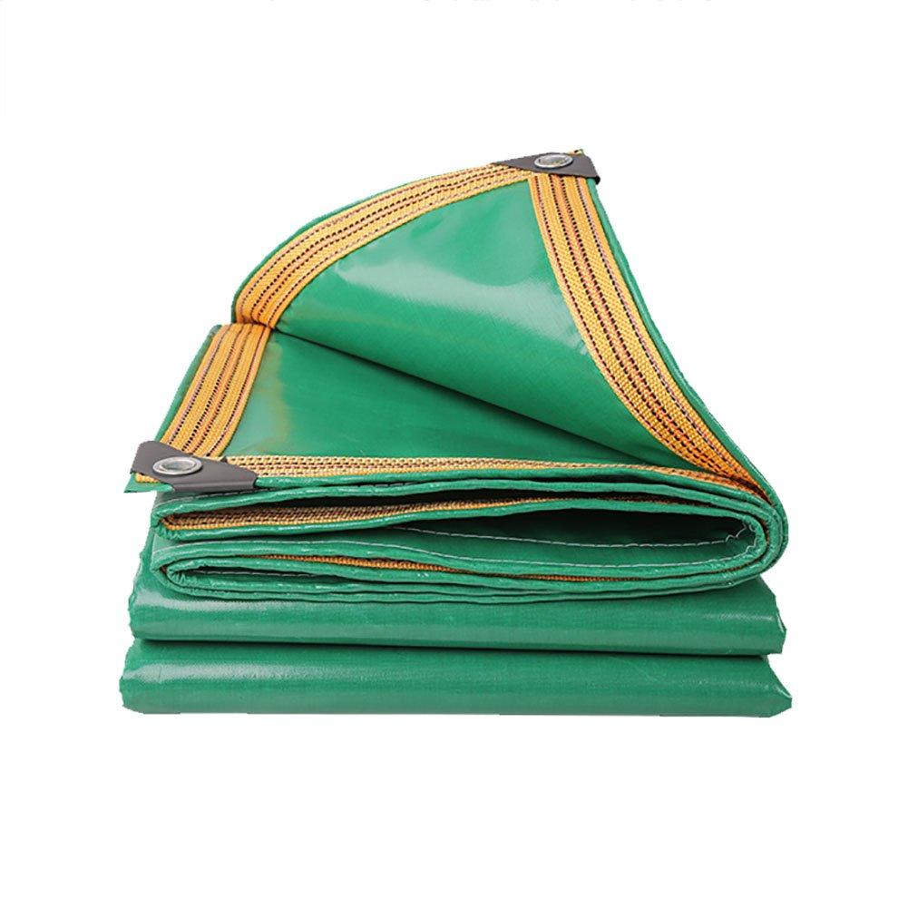 WDXJ 2mx3m Telone Strato Heavy Duty Impermeabile verde Outdoor Tenda per la Protezione Solare Splice Anti-Weathering Trappola Coperture di Foglio di Terra Capannone di Stoffa (Dimensioni   5  10m)