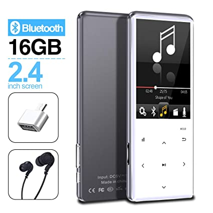 MYMAHDI MP3 Player with Bluetooth 4 2, Touch Buttons with 2 4 inch Screen,  16GB Portable Lossless Digital Audio Player with FM Radio, Voice Recorder,