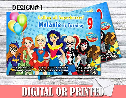 DC Super Hero Girls Personalized Birthday Invitations More Designs -