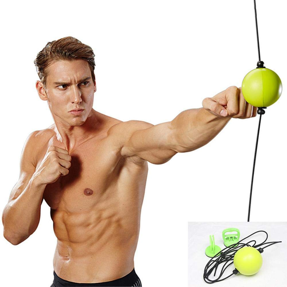 Boxing Speed Ball Boxing Reflex Ball Quick Puncher Fitness Training Hand And Eye Training Coordination For Boxers To Practice Timing And Speed Of Swims, Jabs, Hooks, Crosses And Defensive Movements