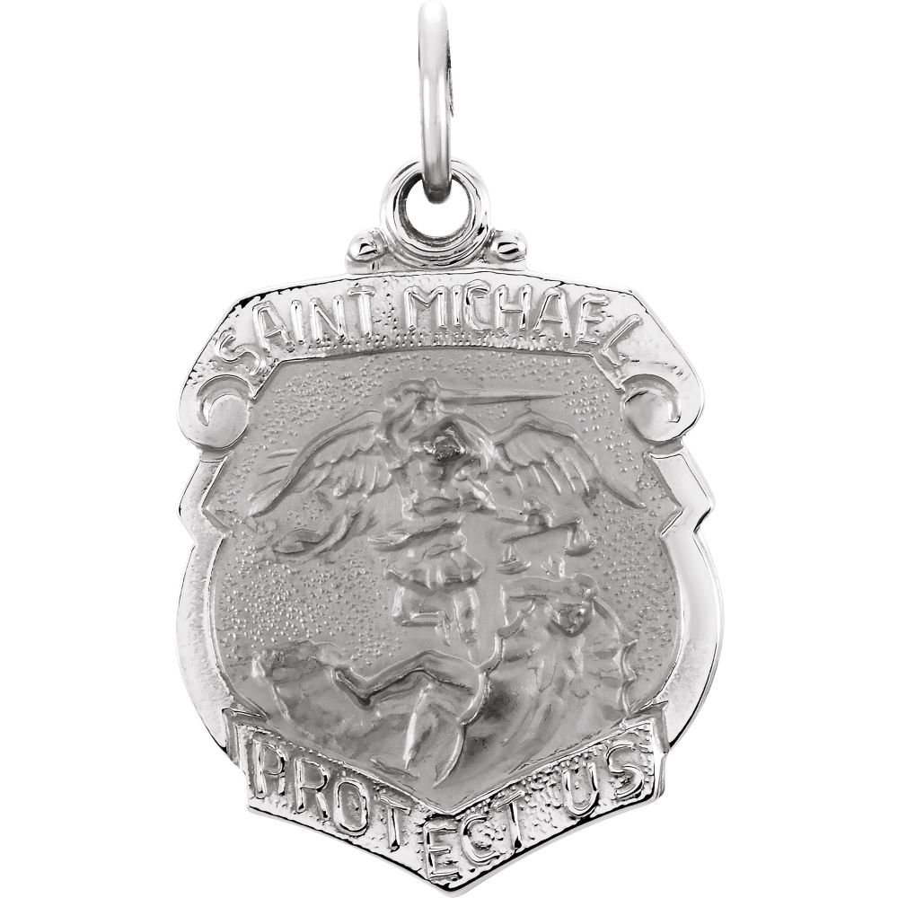 TONYS JEWELRY CO Sterling Silver 16.5x14mm St Michael Medal
