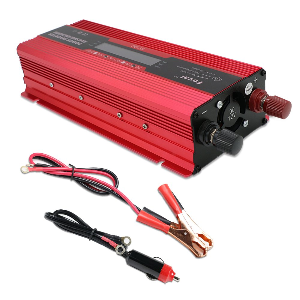 Lvyuan 1000W/2000W Power Inverter Dual AC Outlets and Dual USB Charging Ports DC to AC inverter 12V to 110V Car Converter DC 12V inverter With Digital LCD Display by Lvyuan (Image #6)