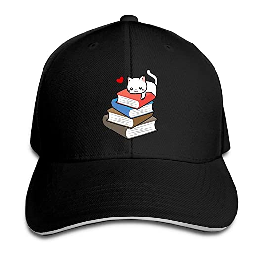 31fdd432a66 Image Unavailable. Image not available for. Color  Cat Book Nerd Reader On  Cat Cap Unisex Low Profile Cotton Hat Baseball ...