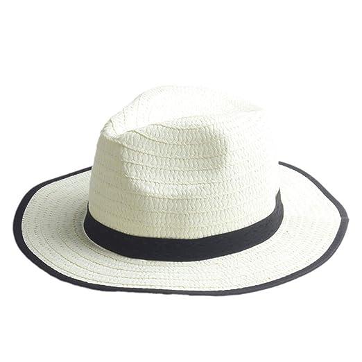 b80fe25477426 Fashion Summer Child Straw Sun Hats Trilby Gangster Cap Boy Girl Wide Brim Sunhat  Kids Beach